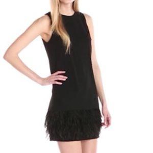 Calvin Klein Women's Dress with Feather Detail